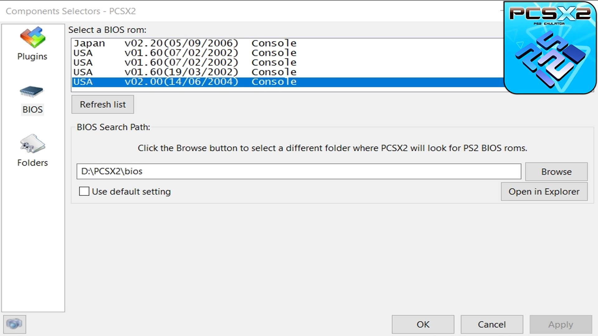 PCSX2 BIOS