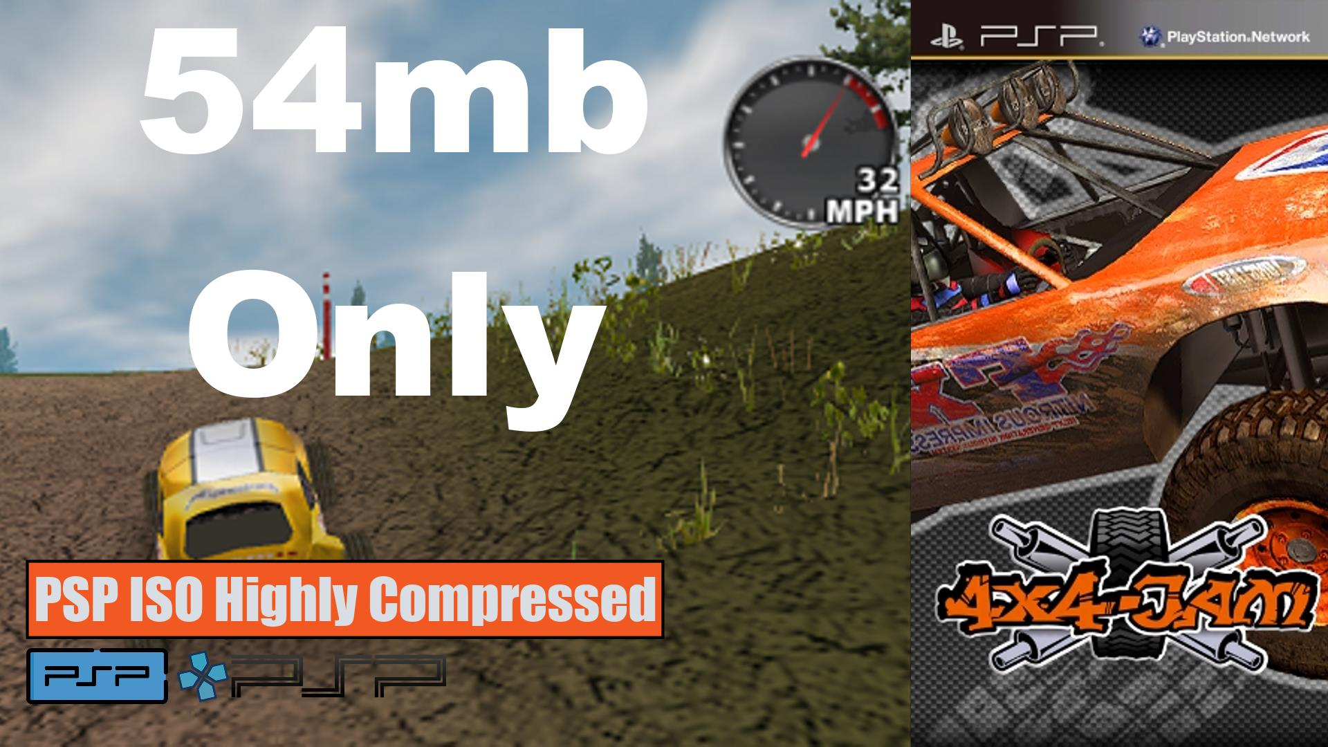 4x4 Jam PSP ISO Highly Compressed