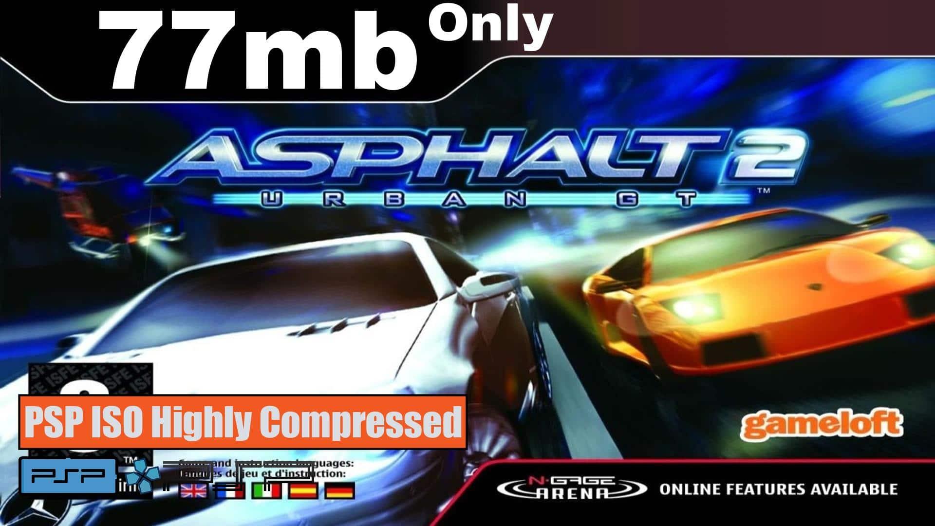 Asphalt Urban GT 2 PSP ISO Highly Compressed