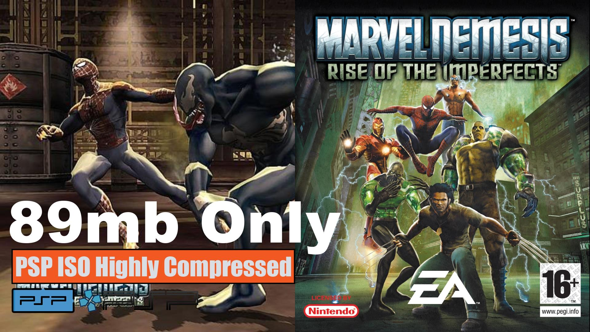 Marvel Nemesis Rise of the Imperfects PSP ISO Highly Compressed