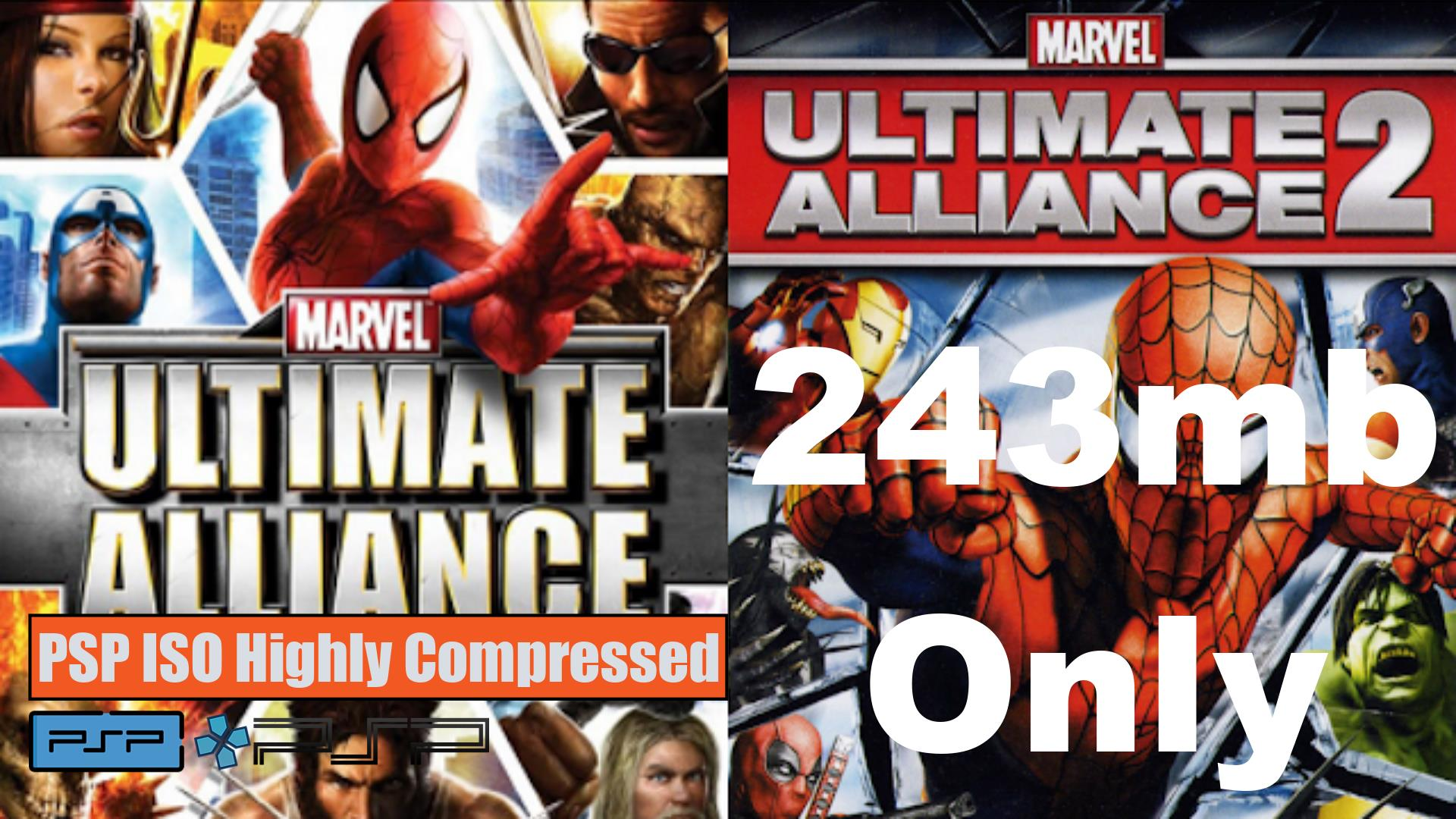 Marvel Ultimate Alliance PSP ISO Highly Compressed
