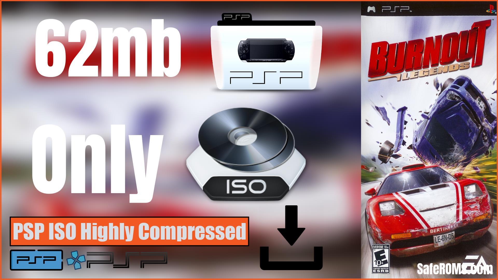 Burnout Legends PSP ISO Highly Compressed
