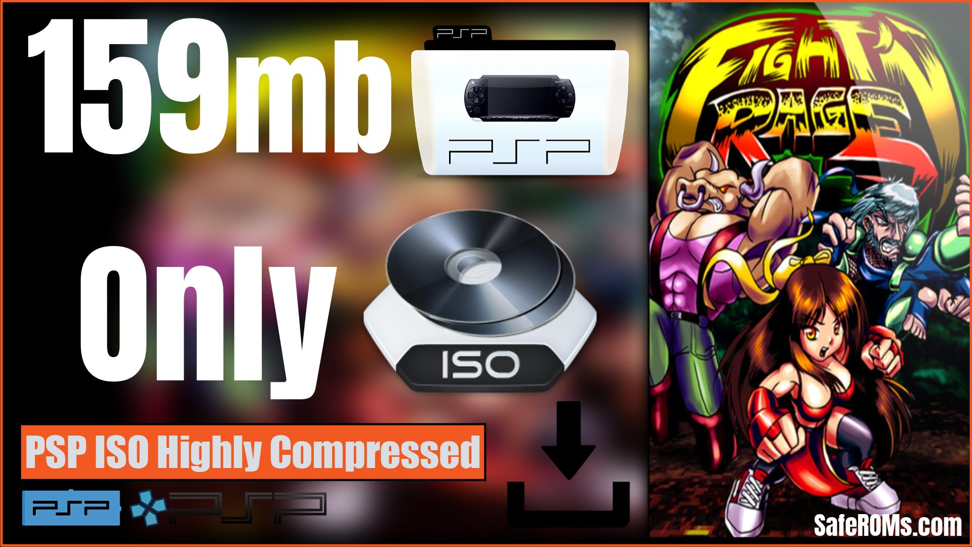 Fight'N Rage PSP ISO Highly Compressed Download (MAC)