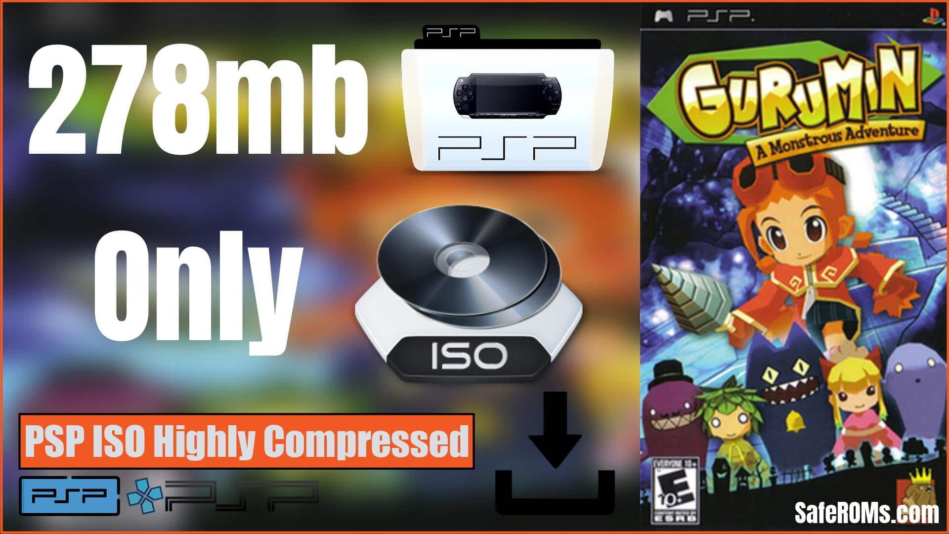 Gurumin A Monstrous Adventure (MAC) PSP ISO Highly Compressed Download