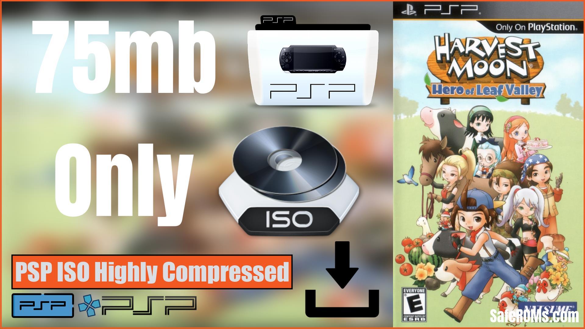 Harvest Moon Hero of Leaf Valley PSP ISO Highly Compressed Download