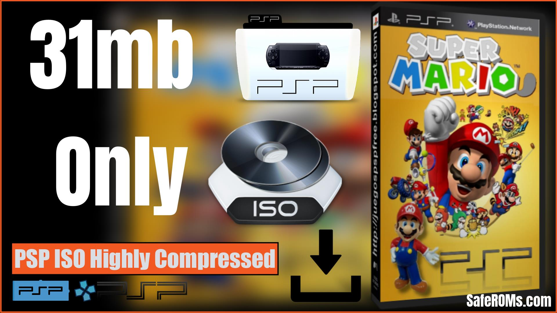 Mario Kart PSP ISO Highly Compressed Download