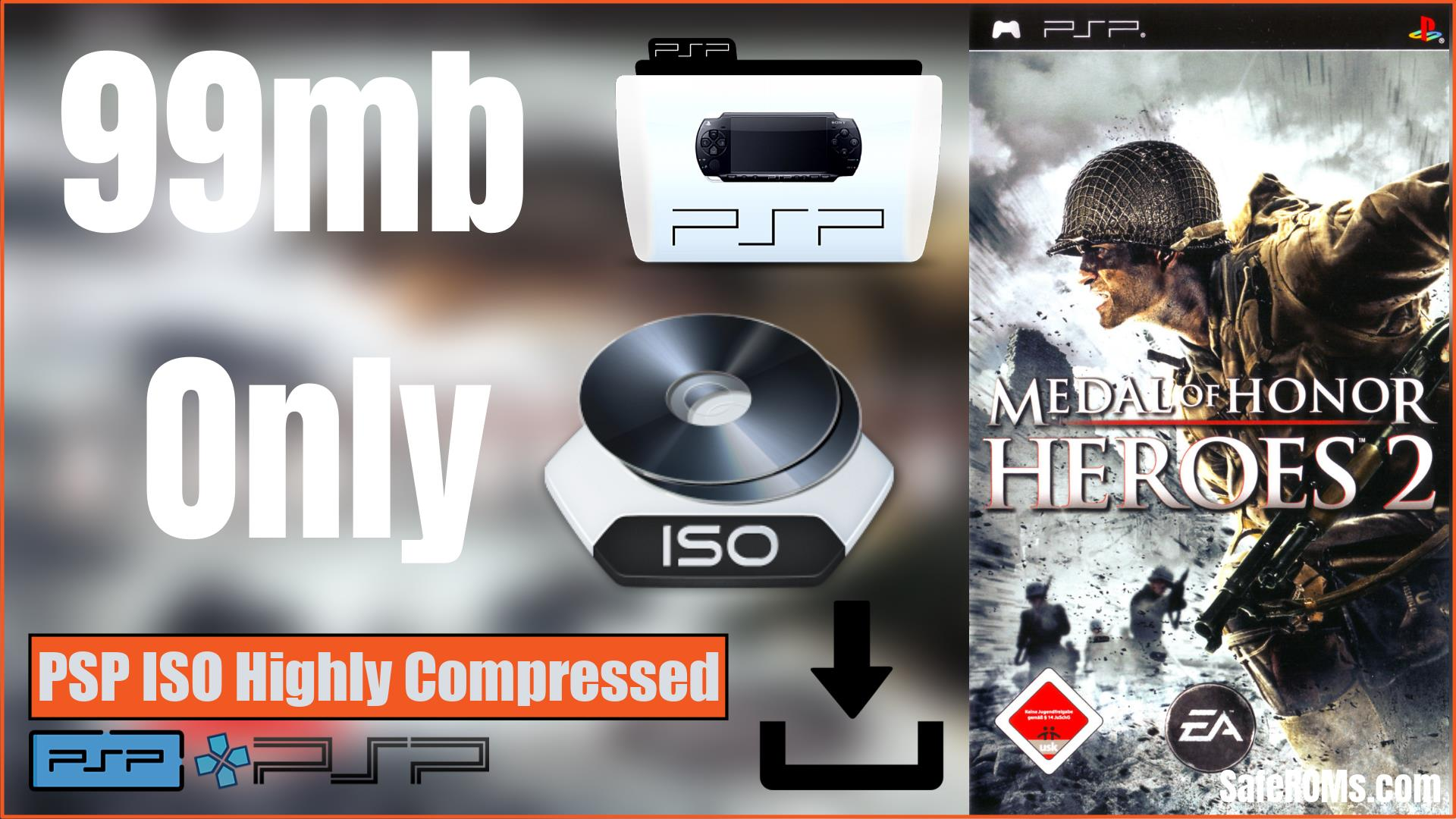 Medal of Honor Heroes 2 PSP ISO Highly Compressed Download