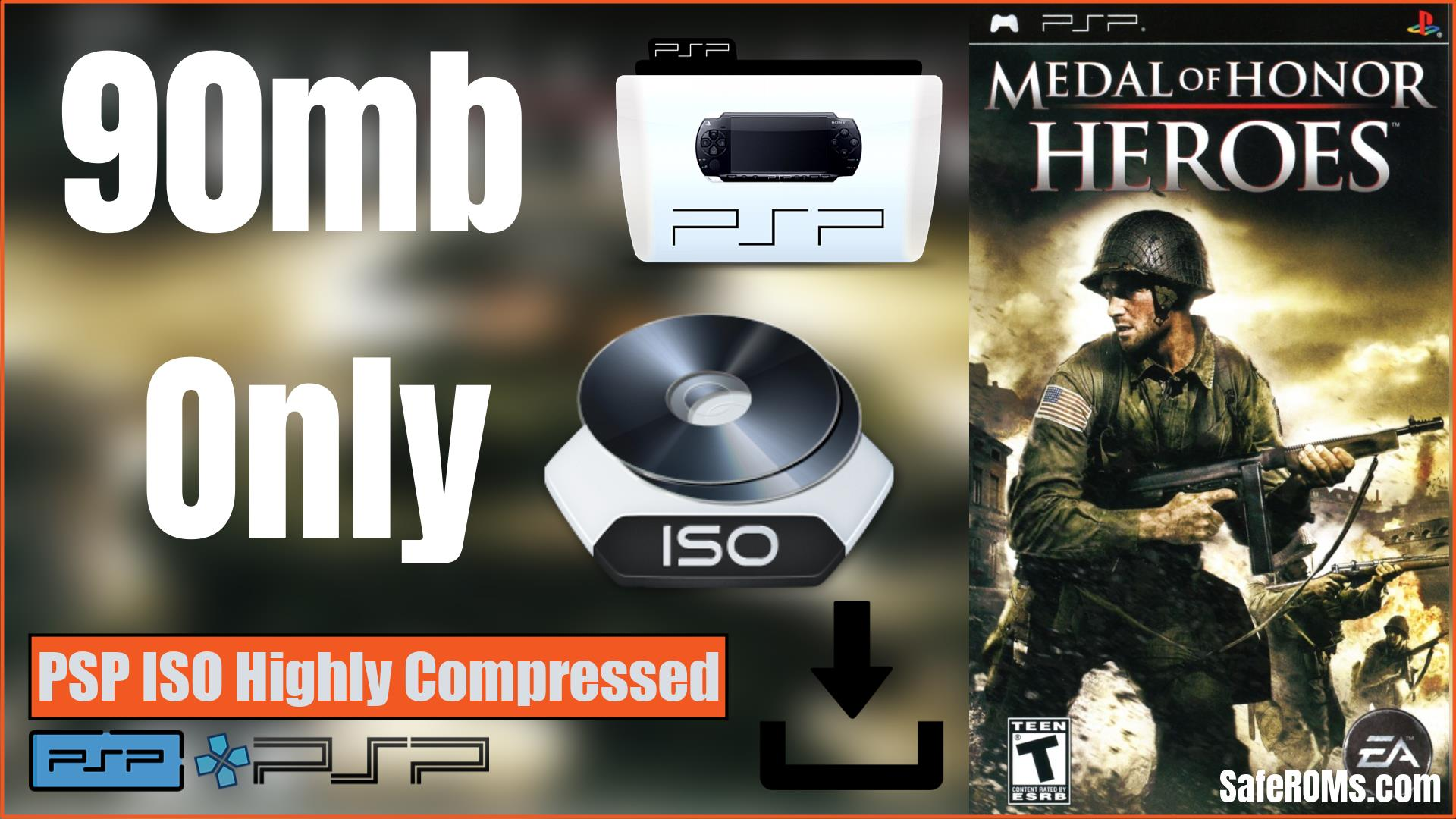 Medal of Honor Heroes PSP ISO Highly Compressed Download