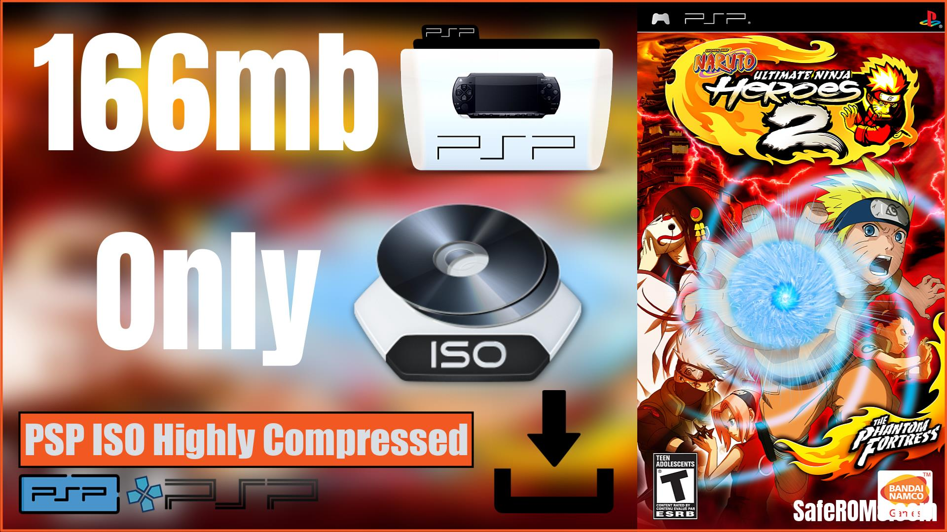 Naruto Ultimate Ninja Heroes 2 The Phantom Fortress PSP ISO Highly Compressed Download