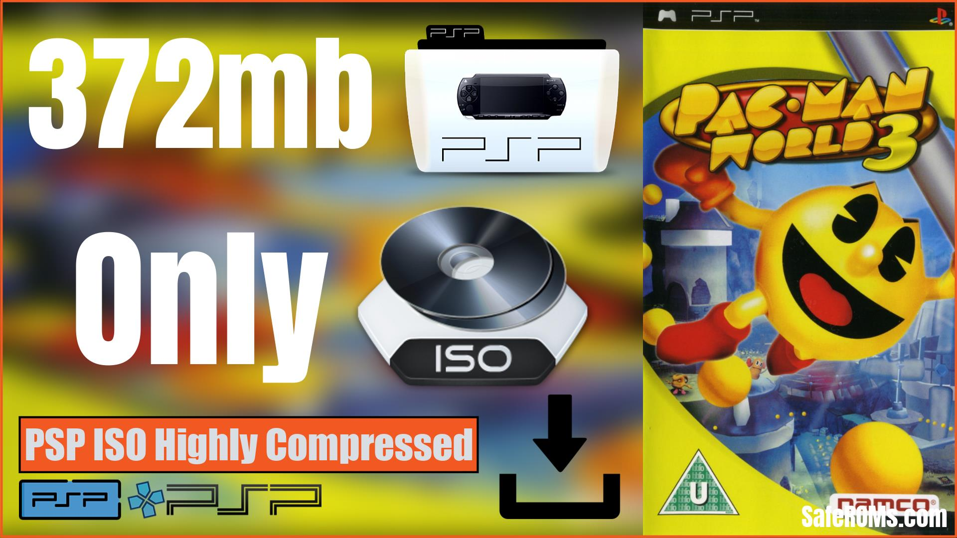 Pac-Man World 3 PSP ISO Highly Compressed Download