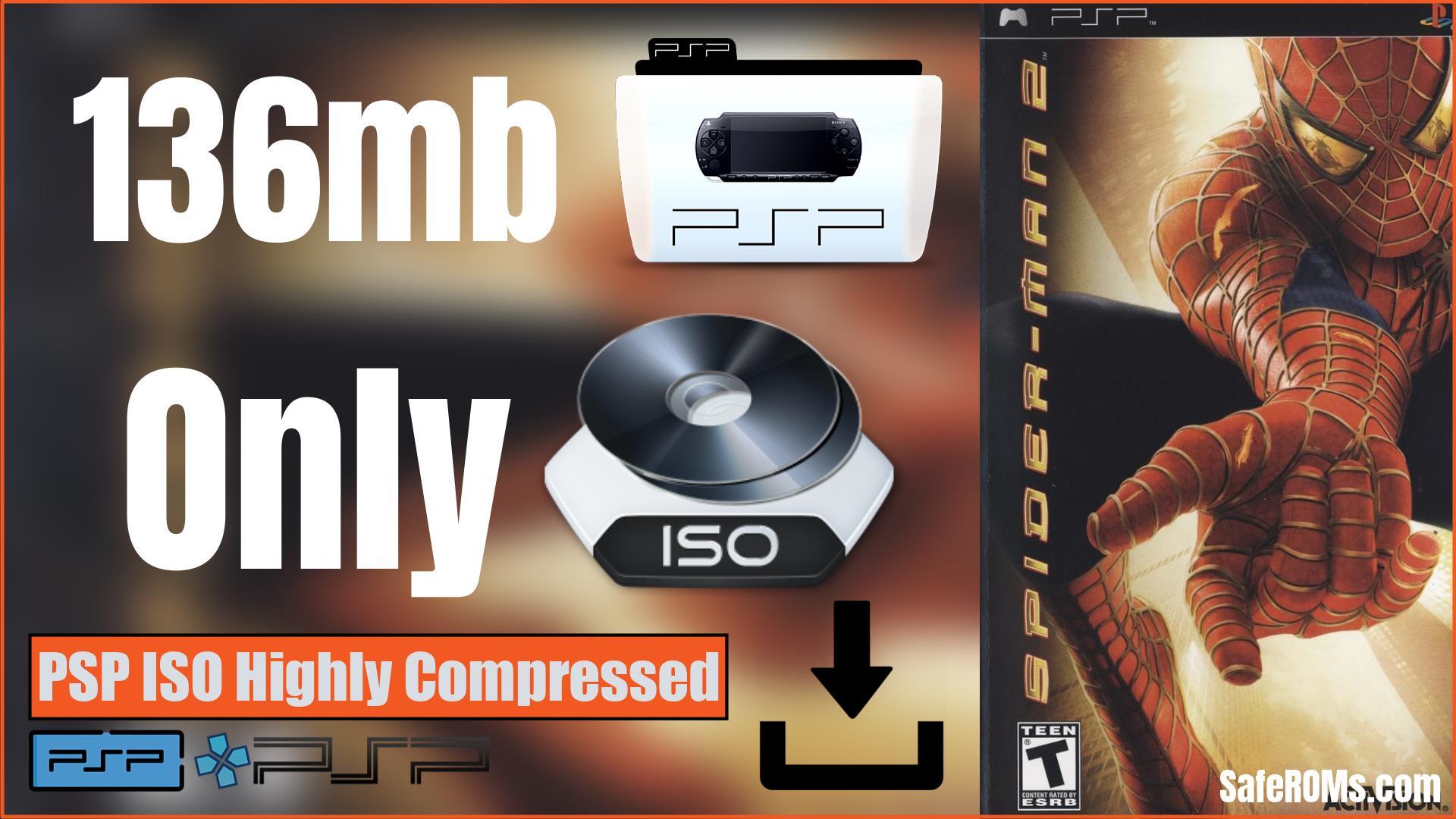 Spider-Man 2 PSP ISO Highly Compressed Download (136mb)