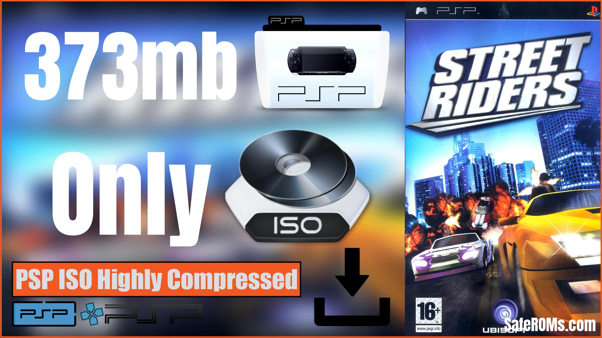 Street Riders PSP ISO Highly Compressed Download