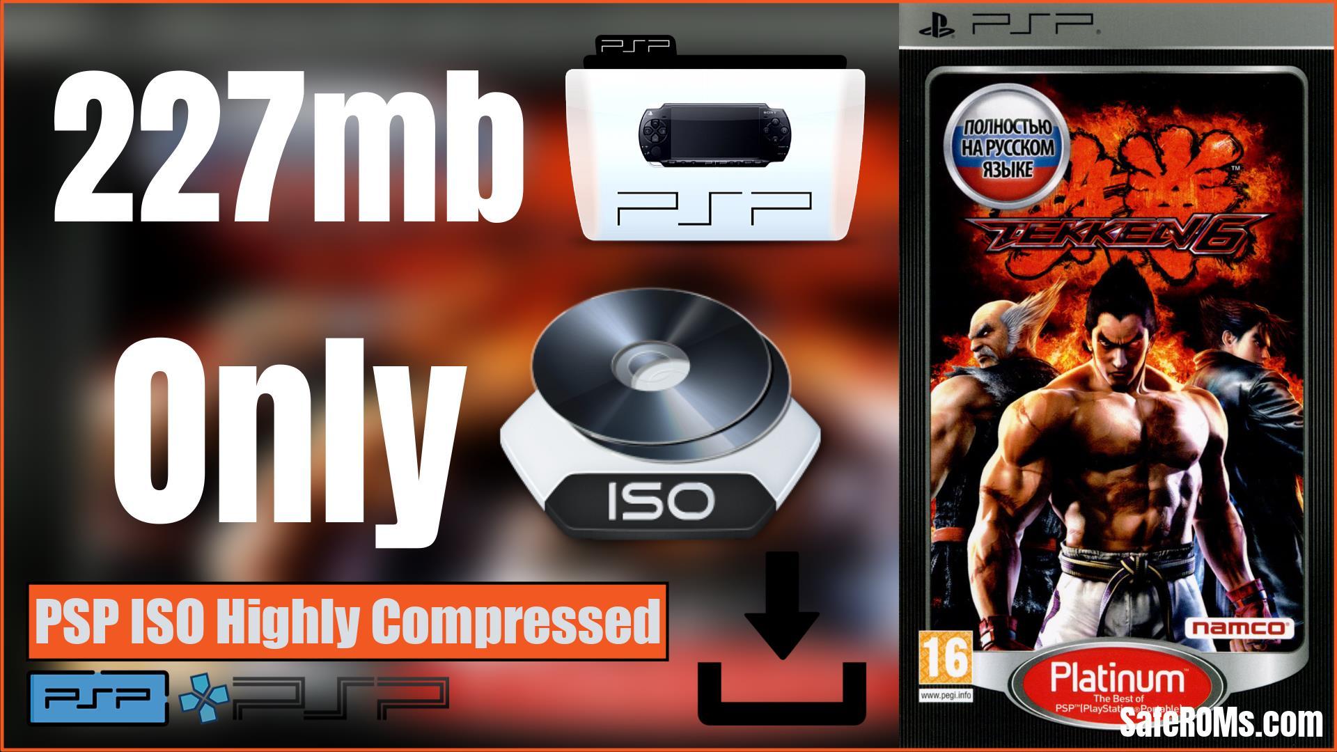 Tekken 6 PSP ISO Highly Compressed Download