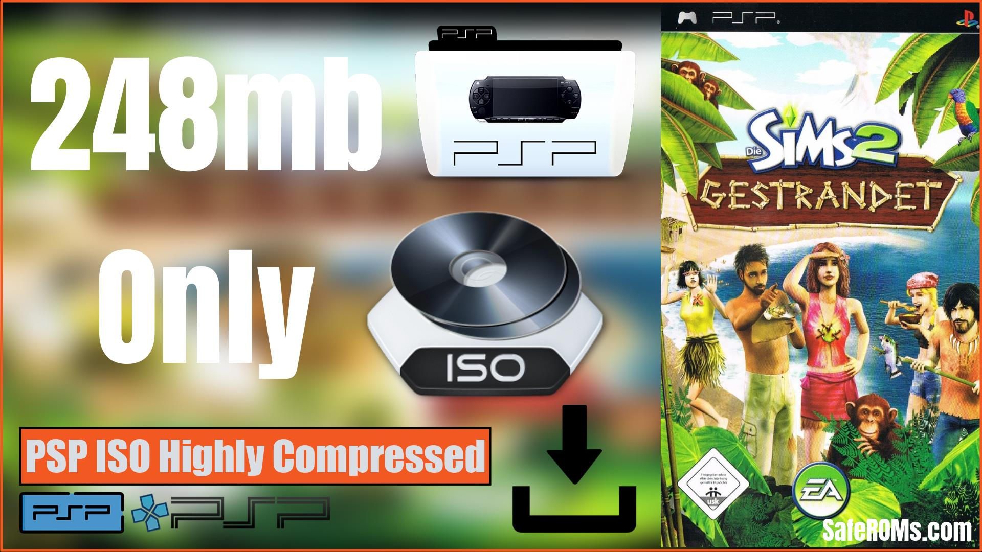 The Sims 2 Castaway PSP ISO Highly Compressed Download