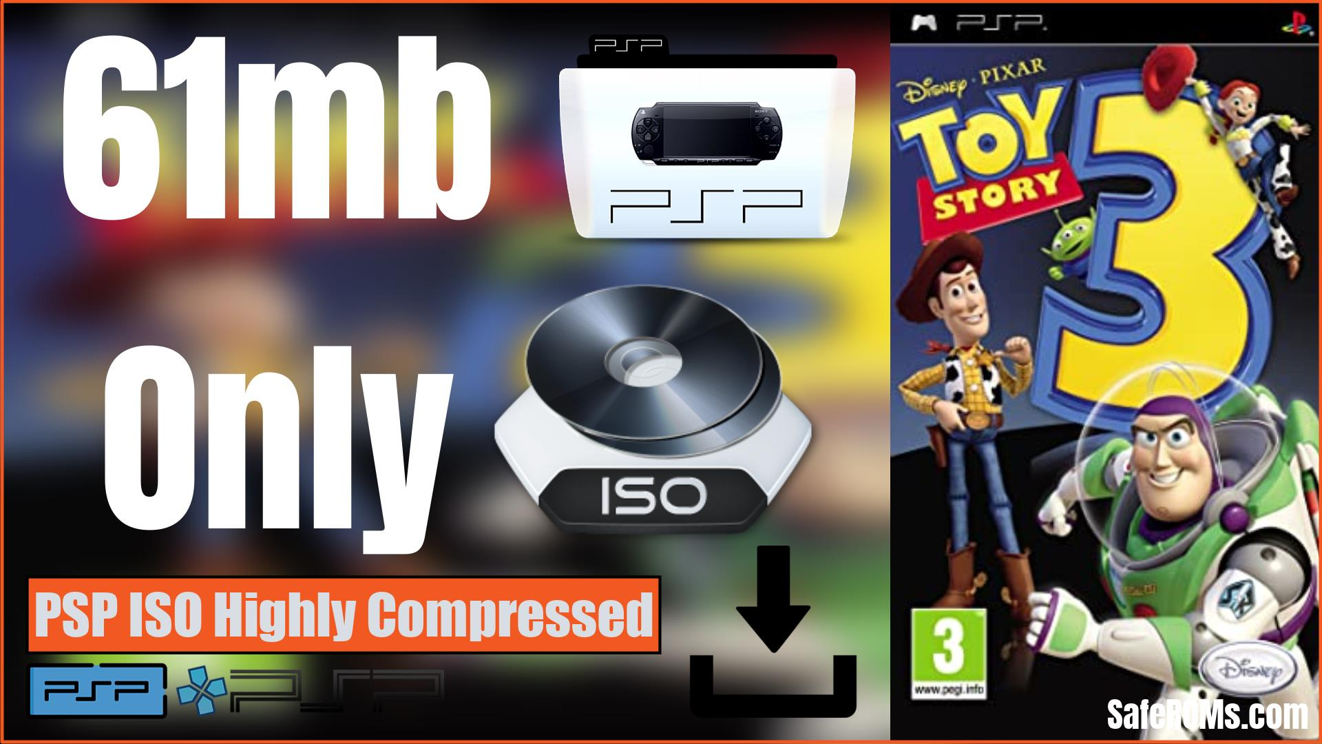 Toy Story 3 PSP ISO Highly Compressed Download