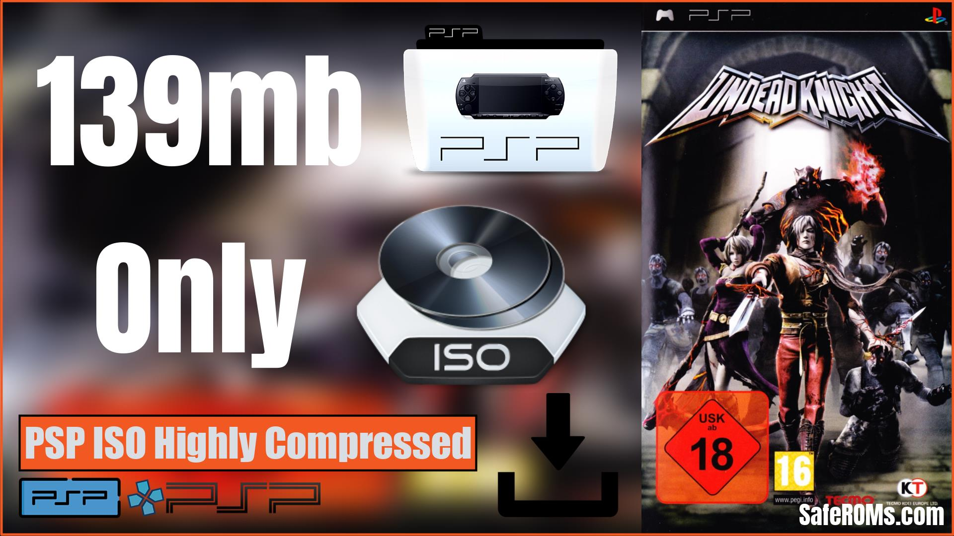 Undead Knights PSP ISO Highly Compressed Download