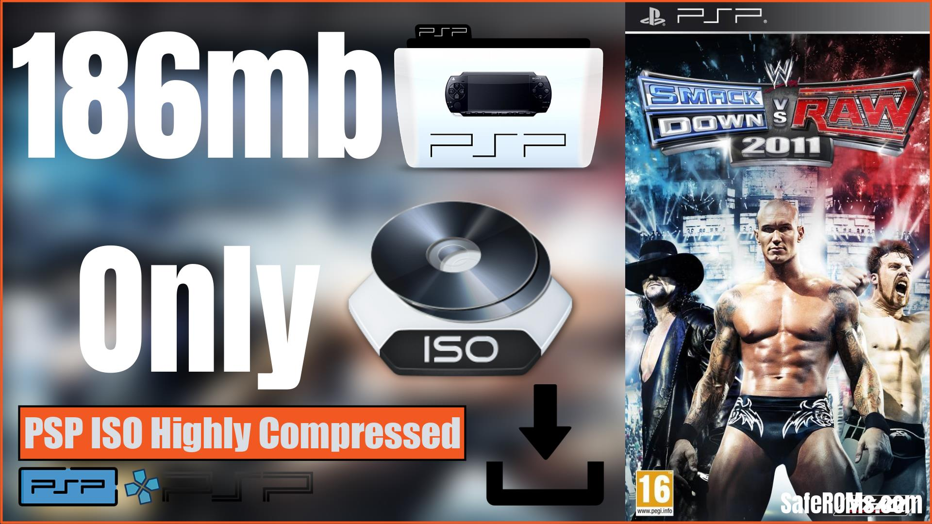 WWE 2K11 PSP ISO Highly Compressed Download