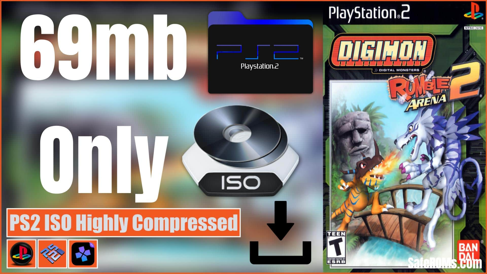 Digimon Rumble Arena 2 PS2 ISO Highly Compressed Download