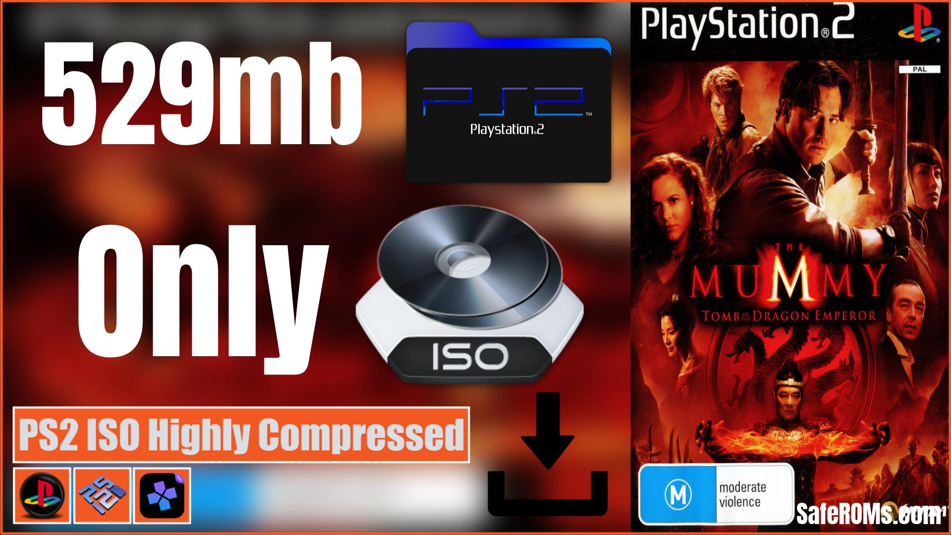 The Mummy - Tomb of the Dragon Emperor PS2 ISO Highly Compressed Download